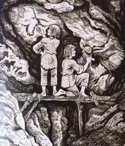 Voor het bereiken het plafond van de grot moesten ook stellingen gebouwd worden – met stenen werktuigen.
