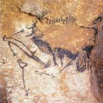 De enige afbeelding van een mens in de grotten van Lascaux