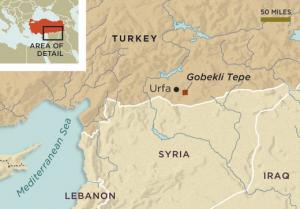 Locatie van Göbekli Tepe.