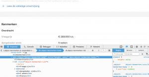De leesbaarheid van de Funda-html.