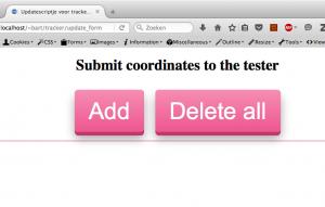 Site'je om testdata in de database te stoppen.